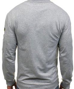Bluza fara gluga pentru barbat gri Bolf 0733