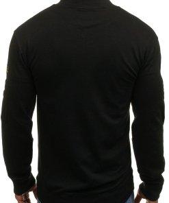 Bluza fara gluga pentru barbat neagra Bolf 0733