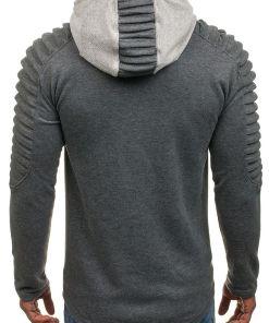 Bluza cu gluga pentru barbat gri-antracit Bolf 9086