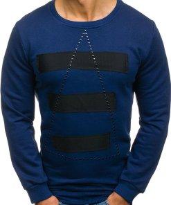 Bluza fara gluga cu imprimeu pentru barbat bluemarin Bolf 9102