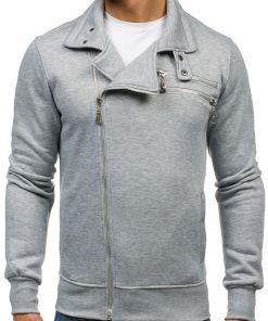 Bluza fara gluga pentru barbat gri Bolf 002