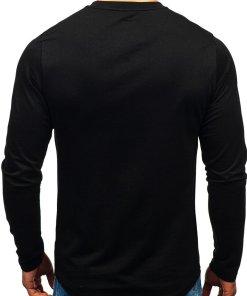 Bluza fara gluga cu imprimeu pentru barbat neagra-verde Bolf 0756