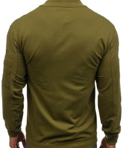 Bluza fara gluga pentru barbat verde Bolf 0733
