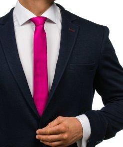 Cravata eleganta pentru barbat violet-inchis Bolf K001