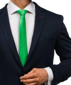 Cravata eleganta pentru barbat verde Bolf K001