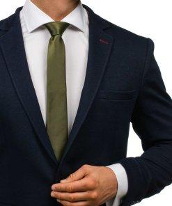 Cravata eleganta pentru barbat gri-inchis Bolf K001