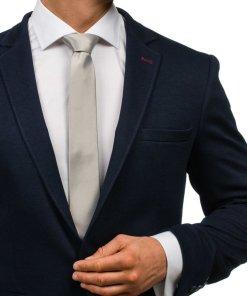 Cravata eleganta pentru barbat gri Bolf K001