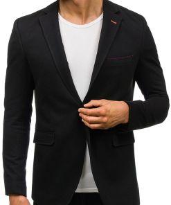 Sacou elegant pentru barbat negru Bolf 406