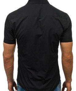 Camasa eleganta cu maneca scurta pentru barbat neagra Bolf 7501