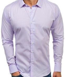 Camasa eleganta cu maneca lunga pentru barbat violet Bolf TS100