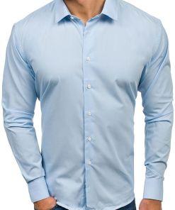 Camasa eleganta cu maneca lunga pentru barbat albastra Bolf TS100