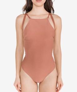 Calvin Klein - Costum de baie întreg pentru Femei - 78176 - culoarea Bej