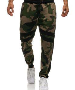 Pantaloni sportivi joggers pentru barbat camuflaj-verzi Bolf 0877