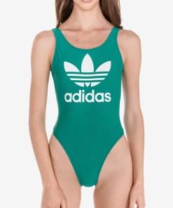 adidas Originals - Trefoil Costum de baie întreg pentru Femei - 81235 - culoarea Verde