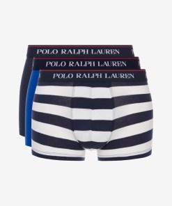 Polo Ralph Lauren Boxeri, 3 bucăți pentru Bărbați - 82019 - culoarea Albastru Alb