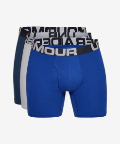 """Under Armour Charged Cotton® 6"""" Boxeri, 3 bucăți pentru Bărbați - 82585 - culoarea Albastru Gri"""
