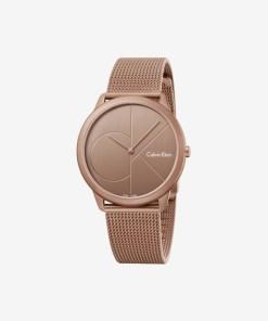 Calvin Klein Minimal Ceas pentru Bărbați - 89568 - culoarea Roz Auriu