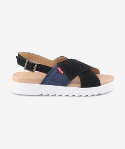 Levi's - Sandale pentru Femei - 90993 - culoarea Negru Albastru