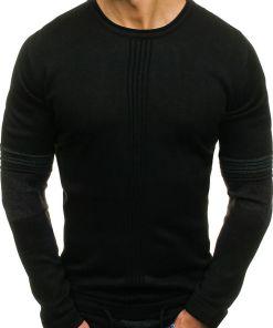 Pulover pentru barbat negru Bolf 9039
