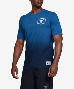 Under Armour Project Rock Iron Paradise Tricou pentru Bărbați - 93750 - culoarea Albastru