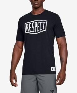 Under Armour Project Rock Graphic Respect Tricou pentru Bărbați - 93744 - culoarea Negru