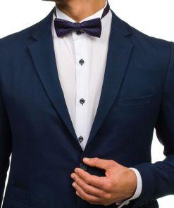Papion elegant pentru barbat albastru-cerneala Bolf M029