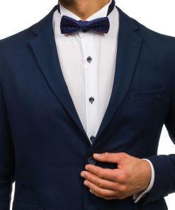 Papion elegant pentru barbat albastru-cerneala Bolf M031