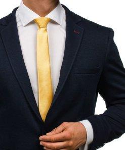 Cravata eleganta pentru barbat galbena Bolf K001