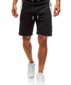 Pantaloni scurti sportivi pentru barbat negri Bolf A9602