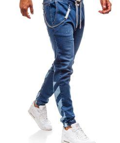 Jeansi baggy pentru barbat albastri Bolf 2040