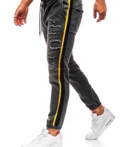 Jeansi baggy pentru barbat gri-deschis Bolf 2041