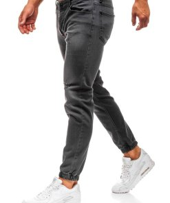 Jeansi joggers pentru barbat gri-deschis Bolf 2043