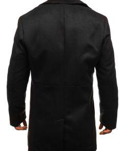 Palton de iarna pentru barbat negru Bolf 5438