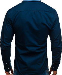 Camasa eleganta pentru barbat cu maneca lunga bluemarin Bolf 8823