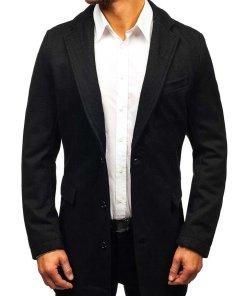 Palton pentru barbat negru Bolf NZ01