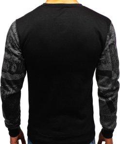 Bluza fara gluga cu imprimeu pentru barbat grafit Bolf DD659