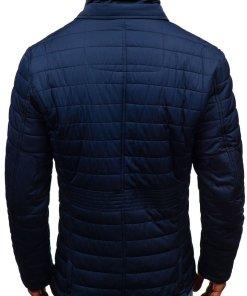 Geaca eleganta de iarna pentru barbat bleumarin Bolf EX201