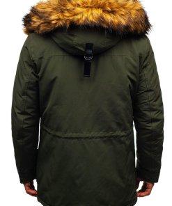 Geaca de iarna pentru barbat verde Bolf 99126