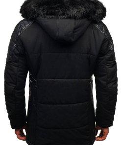 Geaca de iarna pentru barbat neagra Bolf 88852