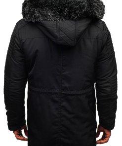 Geaca de iarna pentru barbat neagra Bolf 88859