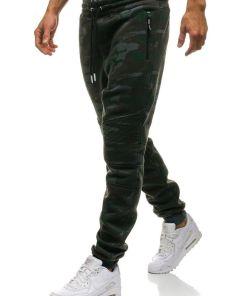 Pantaloni pentru barbati sportivi jogger camuflaj multicolor Bolf 3771D-A