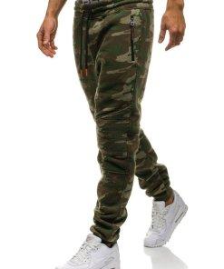 Pantaloni pentru barbati sportivi jogger camuflaj multicolor Bolf 3771B-A