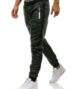 Pantaloni pentru barbati sportivi jogger camuflaj multicolor Bolf 3783D-A