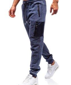 Pantaloni pentru barbati sportivi jogger bleumarin Bolf Q3768