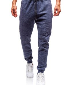 Pantaloni pentru barbati sportivi jogger bleumarin Bolf Q3778