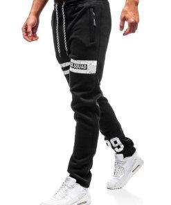 Pantaloni pentru barbati sportivi jogger negri Bolf Q3736