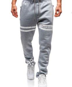 Pantaloni pentru barbati sportivi jogger gri Bolf Q3736