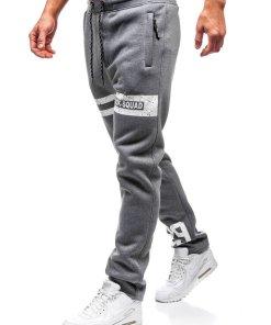 Pantaloni pentru barbati sportivi jogger grafit Bolf Q3736