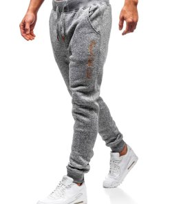 Pantaloni pentru barbati sportivi jogger gri Bolf Q3507