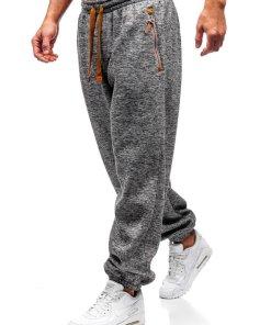 Pantaloni pentru barbati sportivi jogger gri-maro Bolf Q3520